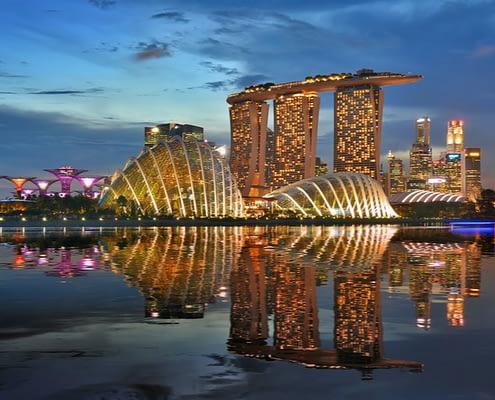 Night view in Singapore